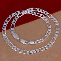 Vienna Jewelry Sterling Silver Thin Lay Chain Necklace - Thumbnail 0