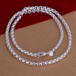 Vienna Jewelry Sterling Silver Petite Beaded Connecting Chain Necklace - Thumbnail 0