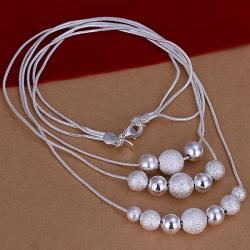 Vienna Jewelry Sterling Silver Multi Pearl & Bead Necklace - Thumbnail 0