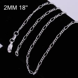Vienna Jewelry Sterling Silver Mid-Size Chain Necklace - Thumbnail 0