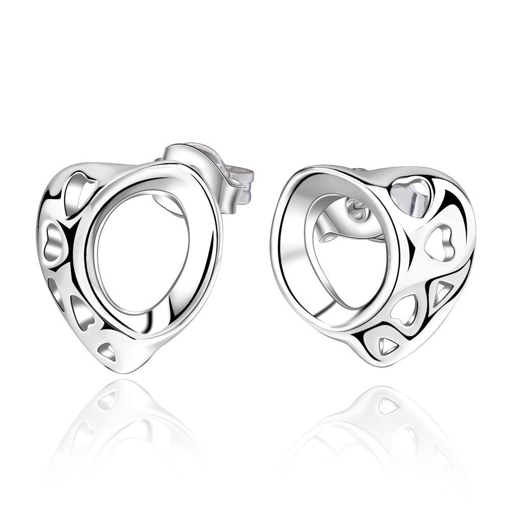 Vienna Jewelry Sterling Silver Laser Cut Circular Drop Earring
