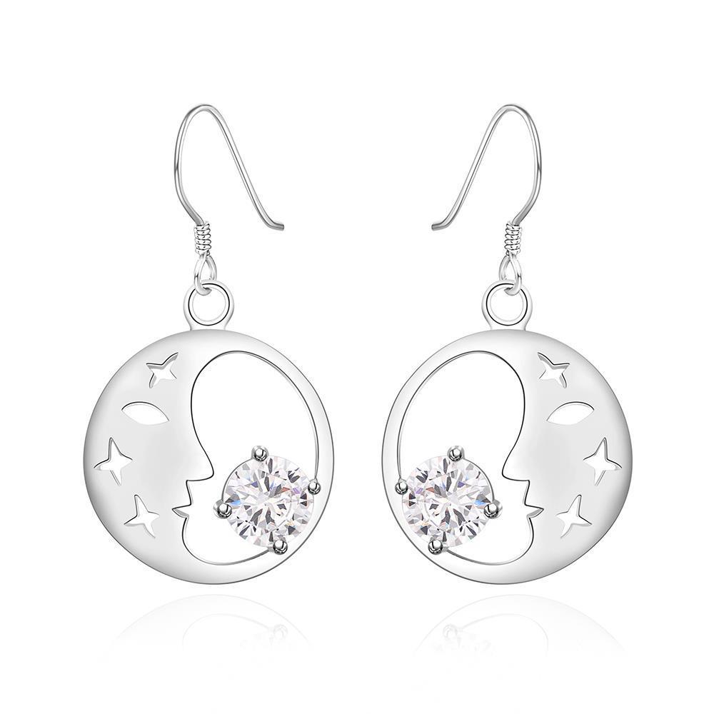 Vienna Jewelry Sterling Silver Good Night World Earring