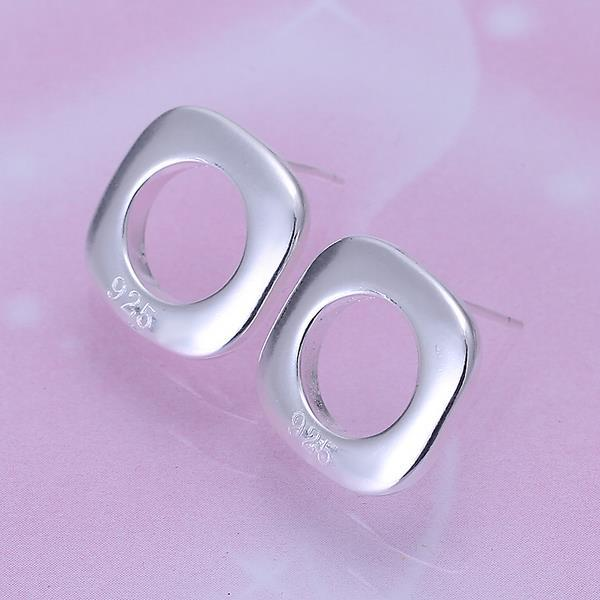 Vienna Jewelry Sterling Silver Hollow Square Studs