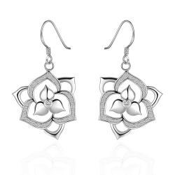 Vienna Jewelry Sterling Silver Laser Cut Flower Bud Drop Earring - Thumbnail 0