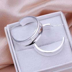 Vienna Jewelry Sterling Silver New York Inspired Hoops - Thumbnail 0