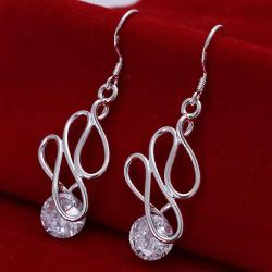 Vienna Jewelry Sterling Silver Abstract Circular Drop Earring - Thumbnail 0