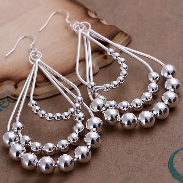 Vienna Jewelry Sterling Silver Chandelier Beads Drop Earring