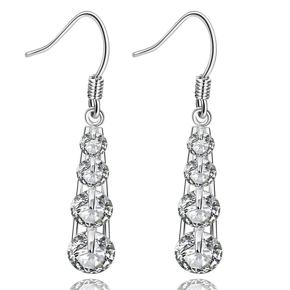 Vienna Jewelry Sterling Silver Multi-Crystal Chandelier Drop Earring