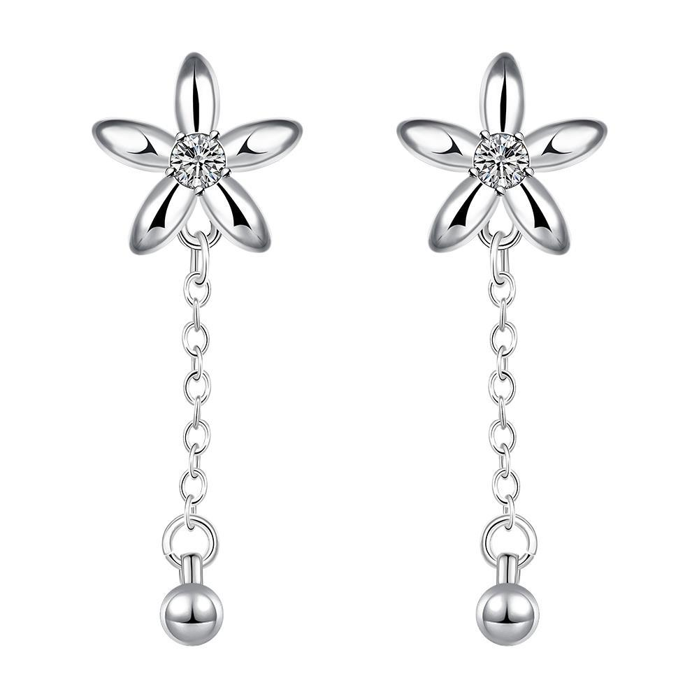 Vienna Jewelry Sterling Silver Starfish Pendant Drop Down Earring