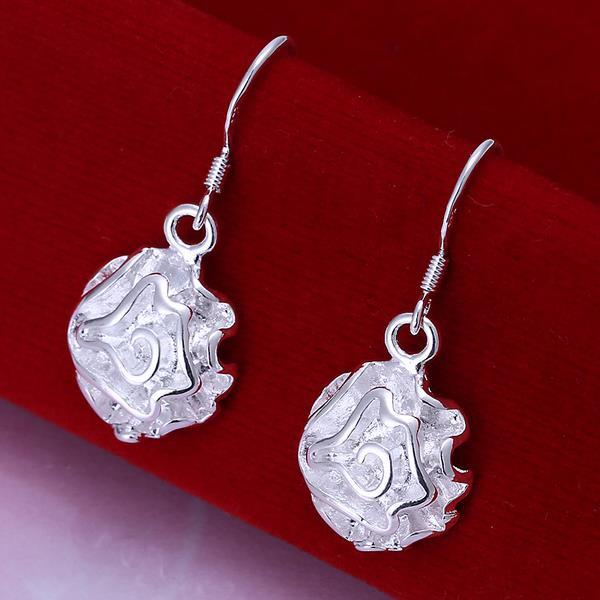 Vienna Jewelry Sterling Silver Drop Floral Bud Earring