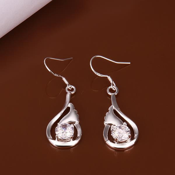 Vienna Jewelry Sterling Silver Fish Shaped Inspired Earring
