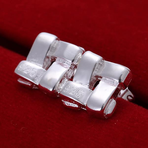 Vienna Jewelry Sterling Silver Plated Cubed Stud Earring