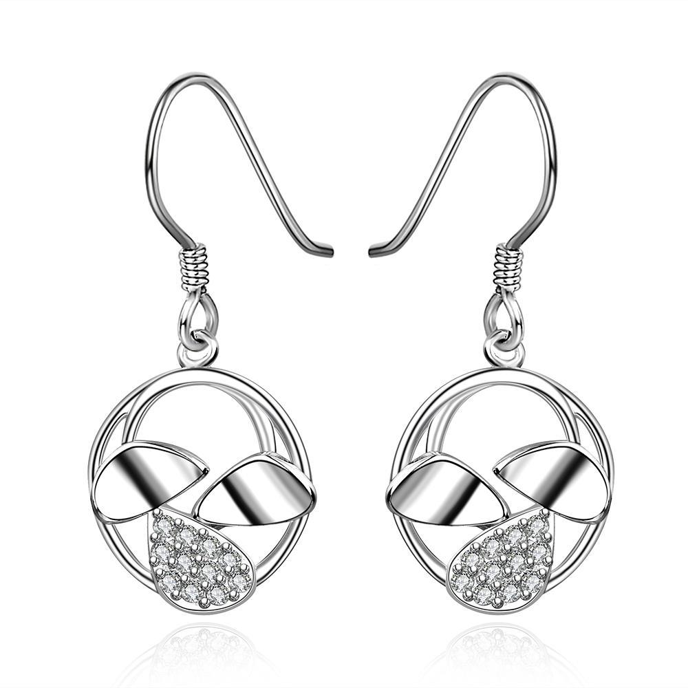 Vienna Jewelry Sterling Silver Trio-Orchid Drop Earring