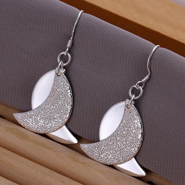Vienna Jewelry Sterling Silver Duo-Abstract Curved Earring