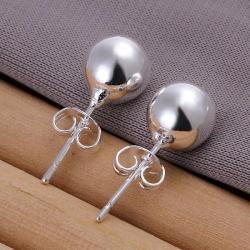 Vienna Jewelry Sterling Silver Mock Pearl Stud Earring - Thumbnail 0