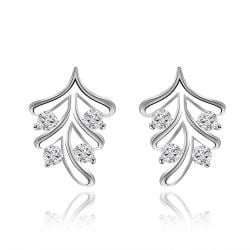 Vienna Jewelry Sterling Silver Vertical Orchid Earring - Thumbnail 0