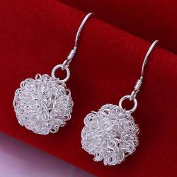 Vienna Jewelry Sterling Silver Blossoming Ball Drop Earring - Thumbnail 0