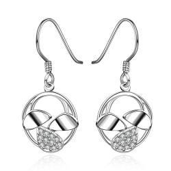 Vienna Jewelry Sterling Silver Trio-Orchid Drop Earring - Thumbnail 0