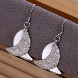 Vienna Jewelry Sterling Silver Duo-Abstract Curved Earring - Thumbnail 0
