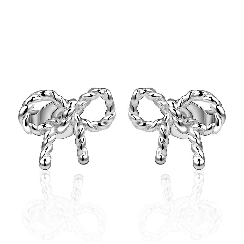 Vienna Jewelry Sterling Silver Intertwined Knot Stud Earring