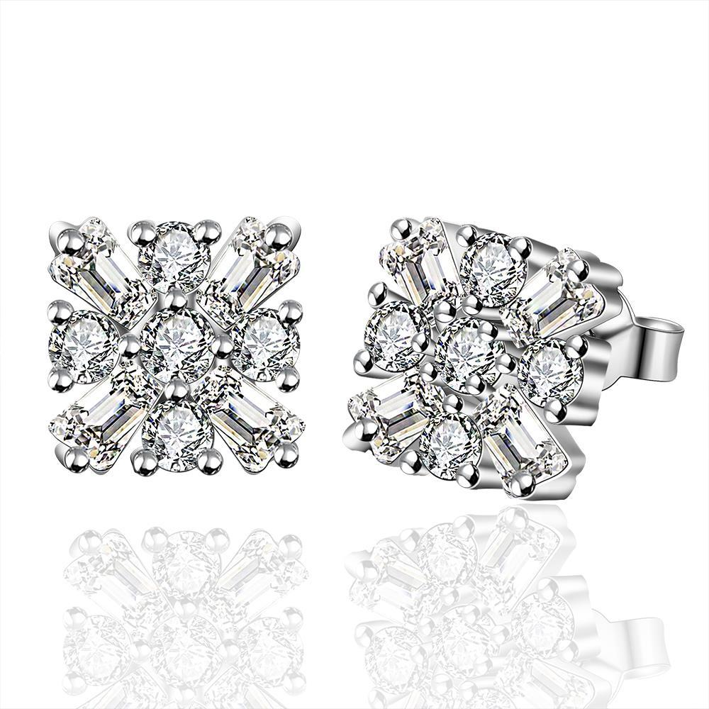 Vienna Jewelry Sterling Silver Blossoming Crystal Stud Earring
