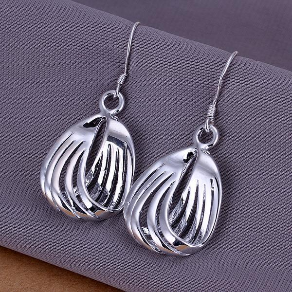 Vienna Jewelry Sterling Silver Sea-Shell Laser Cut Earring