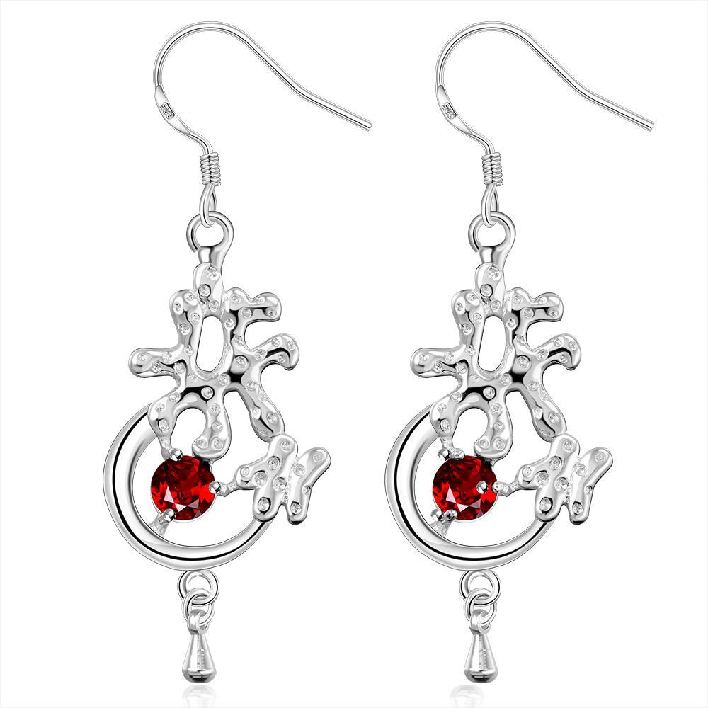 Vienna Jewelry Sterling Silver Abstract Charm Drop Earring
