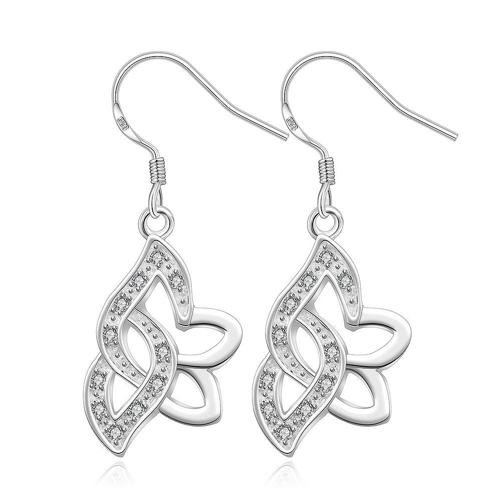 Vienna Jewelry Sterling Silver Drop Hollow Butterfly Earring