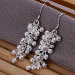 Vienna Jewelry Sterling Silver Pearl Orchid Drop Earring - Thumbnail 0