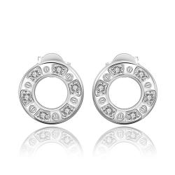Vienna Jewelry Sterling Silver Hollow Circular Stud Earring - Thumbnail 0