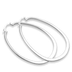 Vienna Jewelry Sterling Silver Large Cut Hoop Earring - Thumbnail 0