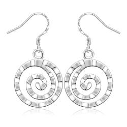 Vienna Jewelry Sterling Silver Abstract Swirl Earring - Thumbnail 0