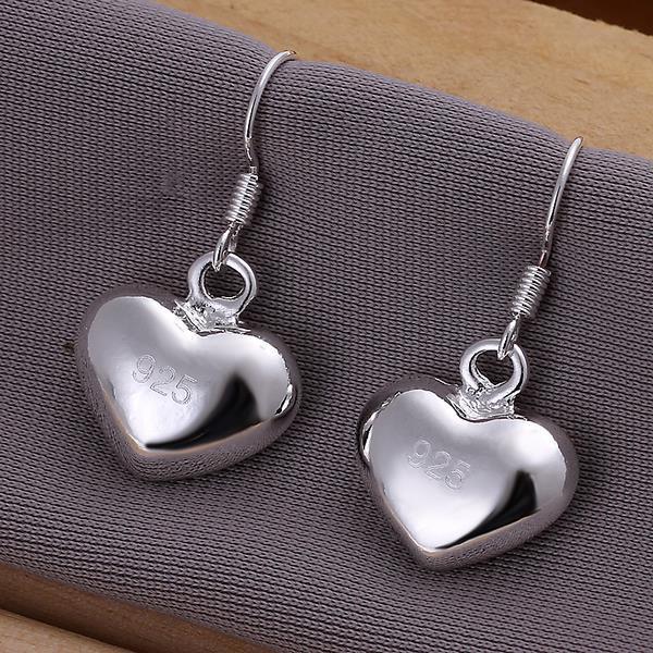 Vienna Jewelry Sterling Silver Heart Shaped Drop Earring
