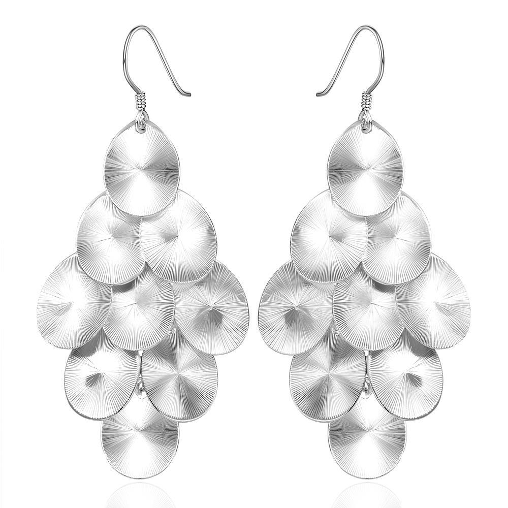Vienna Jewelry Sterling Silver Orchid Plated Drop Earring