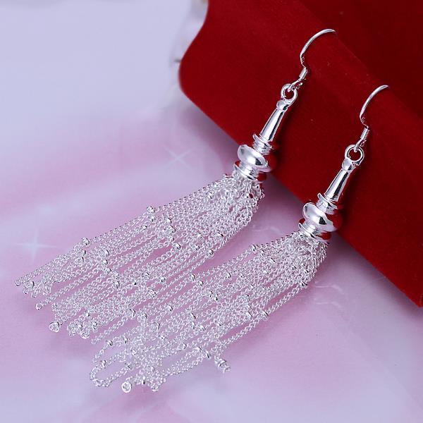 Vienna Jewelry Sterling Silver Drop Linear Drop Earring