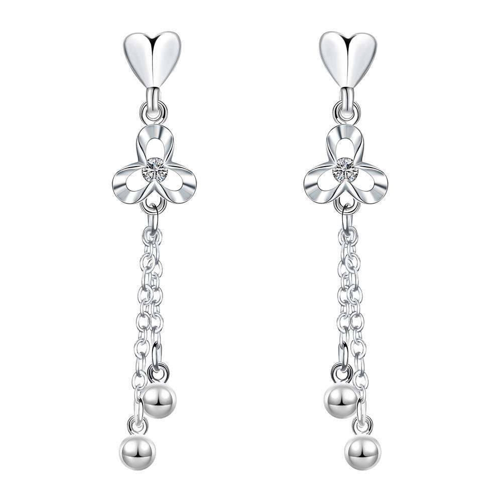 Vienna Jewelry Sterling Silver Drop Bead Drop Earring - Thumbnail 0