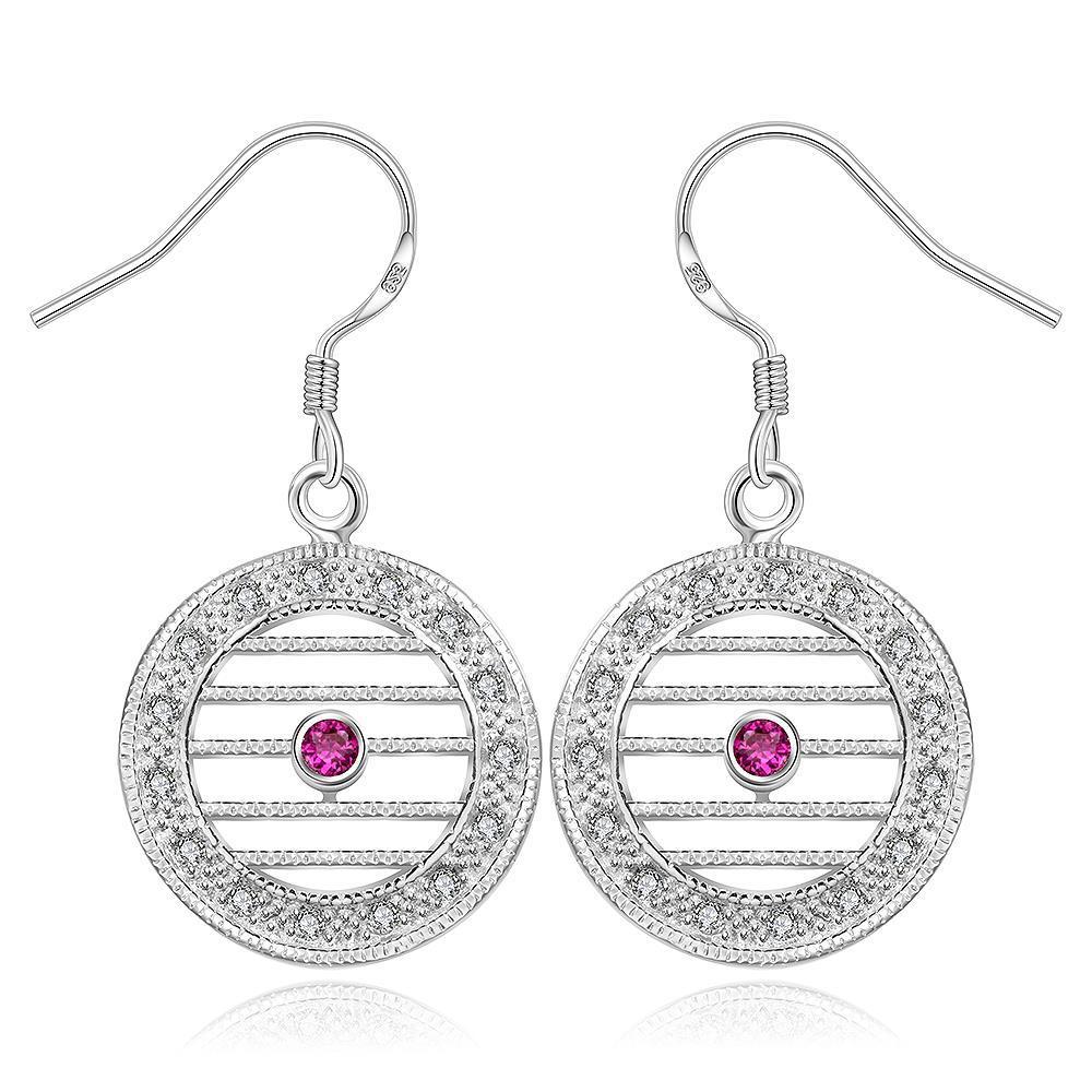 Vienna Jewelry Sterling Silver Laser Cut Linear Drop Earring
