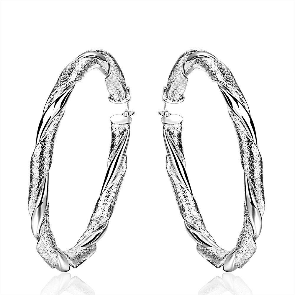 Vienna Jewelry Sterling Silver Intertwined Classical Hoop Earring
