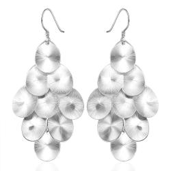 Vienna Jewelry Sterling Silver Orchid Plated Drop Earring - Thumbnail 0