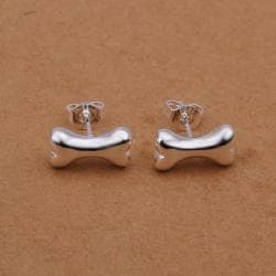 Vienna Jewelry Sterling Silver Wishbone Dog Stud Earring - Thumbnail 0