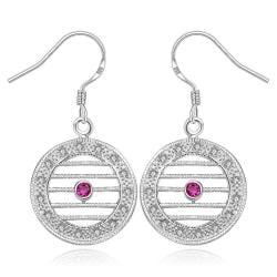 Vienna Jewelry Sterling Silver Laser Cut Linear Drop Earring - Thumbnail 0