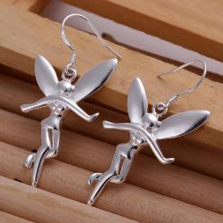 Vienna Jewelry Sterling Silver Drop Angels Earring - Thumbnail 0