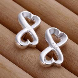 Vienna Jewelry Sterling Silver Infinite Shaped Earring - Thumbnail 0