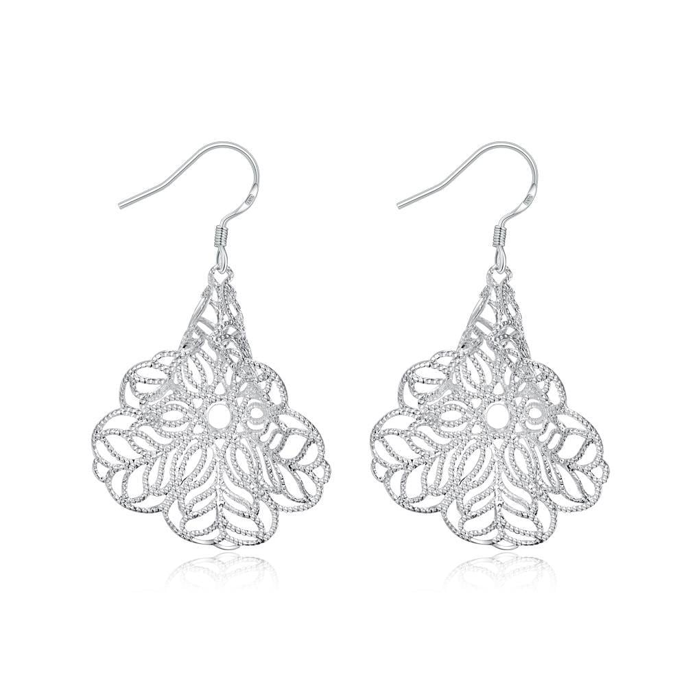 Vienna Jewelry Sterling Silver Filligree Tree Branch Drop Earring - Thumbnail 0