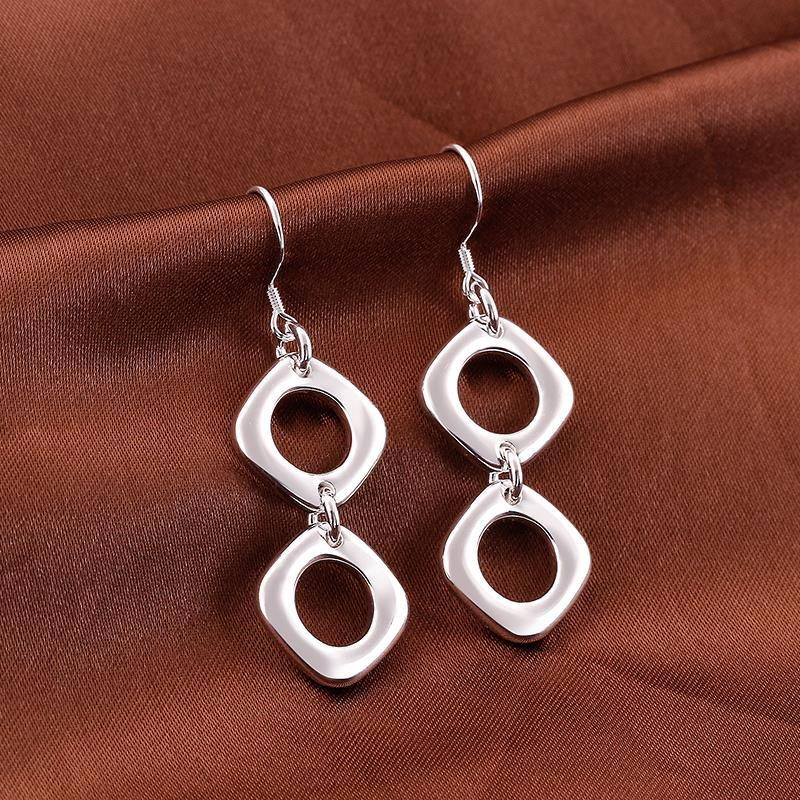 Vienna Jewelry Sterling Silver Double Hollow Oval Shape Earring
