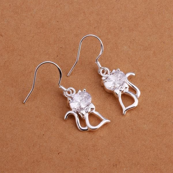 Vienna Jewelry Sterling Silver Abstract Ariana Drop Earring