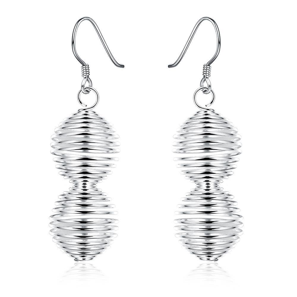 Vienna Jewelry Sterling Silver Spiral Design Drop Drop Earring