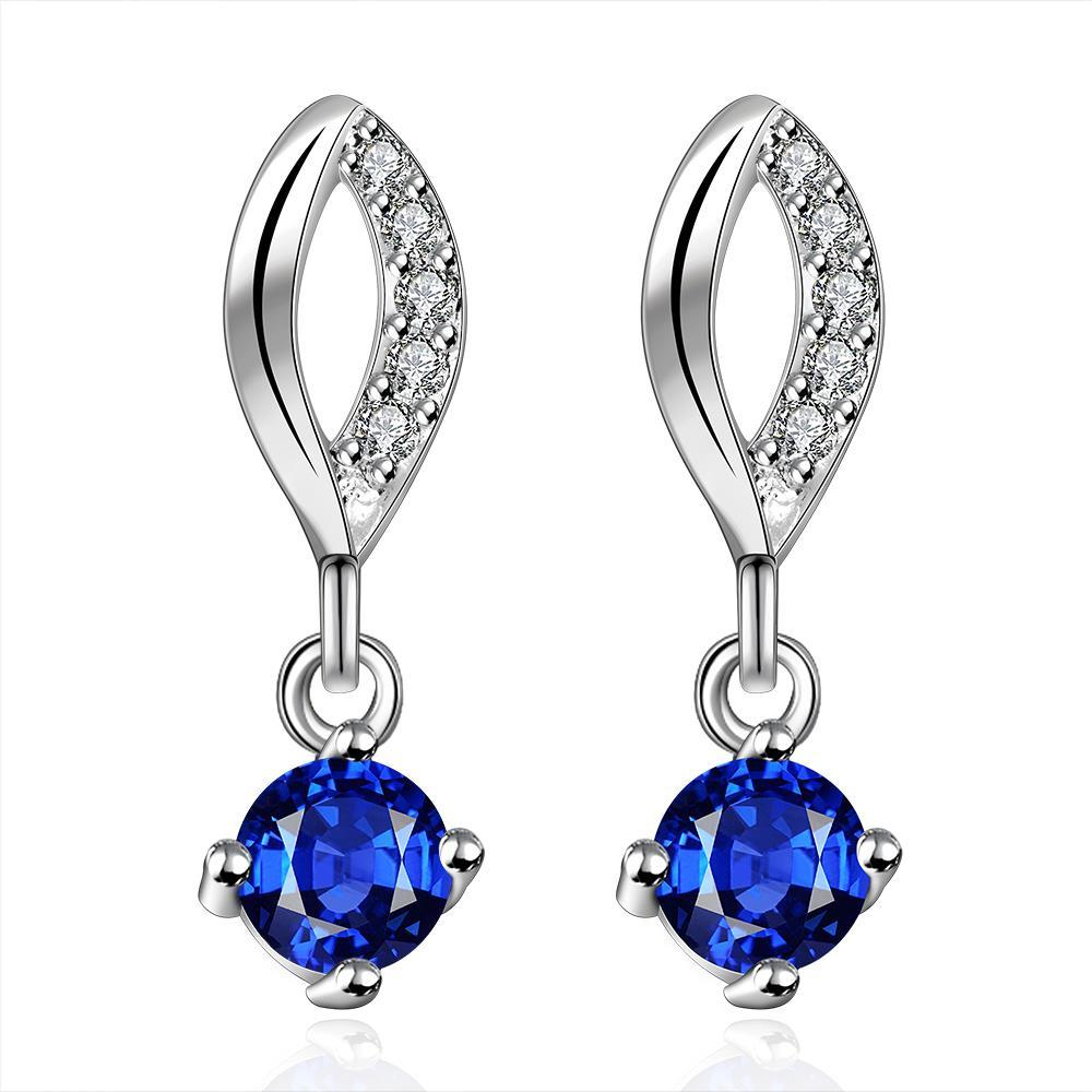 Vienna Jewelry Sterling Silver Sapphire Gem Stone Drop Drop Earring