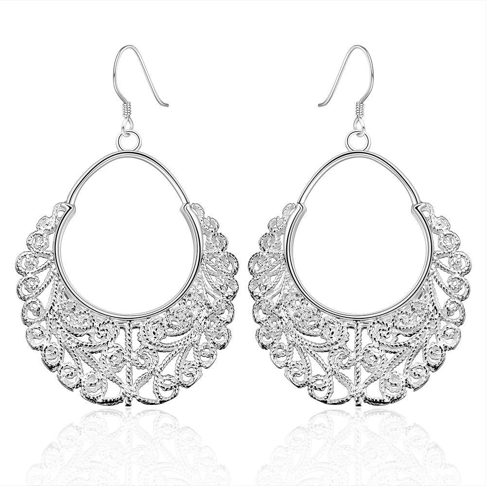 Vienna Jewelry Sterling Silver Classic Fifth Avenue Inspired Earring