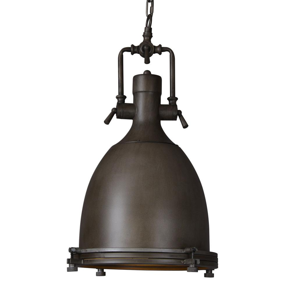 Black dome rustic aged iron steampunk vintage industrial pendant lamp light